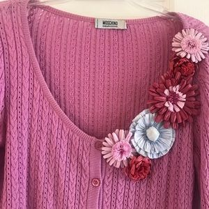 Pink sweater, front buttons, light weight, nice